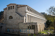 Greece, Athens, The Greek Agora Stoa of Attalos