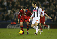 Photo: Rich Eaton.<br /> <br /> West Bromwich Albion v Cardiff City. Coca Cola Championship. 20/02/2007. Steven Thompson left of Cardiff tracks West Broms Jonathan Greening