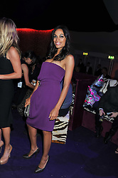 ROSARIO DAWSON at a party hosted by Roberto Cavalli to celebrate his new Boutique's opening at 22 Sloane Street, London followed by a party at Battersea Power Station, London SW8 on 17th September 2011.