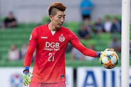 MELBOURNE, VIC - MARCH 05: Jo Hyeonwoo (21) of Daegu FC prepares for a goal kick during the AFC Champions League soccer match between Melbourne Victory and Daegu FC on March 05, 2019 at AAMI Park, VIC. (Photo by Speed Media/Icon Sportswire)