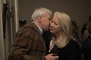 JOHN WALSH; ANGIE O'ROURKE;  The launch of Fire Child by Sally Emerson. Hosted by Sally Emerson and Naim Attalah CBE. Dean St. London. 22 March 2017