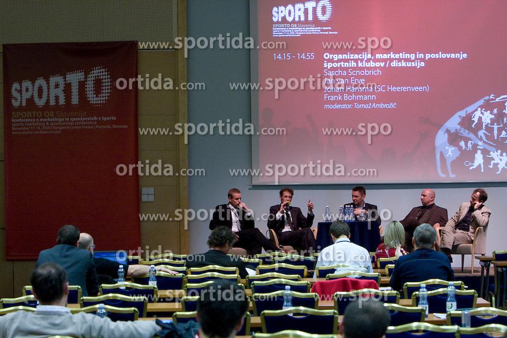at 5th Sporto conference 2008, sports marketing & sponsorship conference, in Kongresni center Portus, Portoroz, Slovenia, on November 17 and 18, 2008.  (Photo by Vid Ponikvar / Sportida)