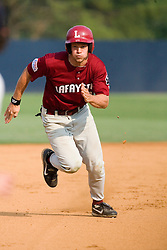 Lafayette Leopards OF Matt Hall (32) heads to third against UVA.  The Virginia Cavaliers defeated the Lafayette Leopards 5-1 at Davenport Field in Charlottesville, VA.  The game, held on June 1, 2007 was the first of the NCAA World Series Regional.