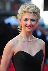 © Licensed to London News Pictures. 15/04/2012. London, England. Scarlett Strallen attends the 2012  Olivier Awards at The Royal Opera House in Covent Garden London on April 15th, England. Photo credit : ALAN ROXBOROUGH/LNP