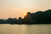 Sunset, Halong Bay, Vietnam, Asia
