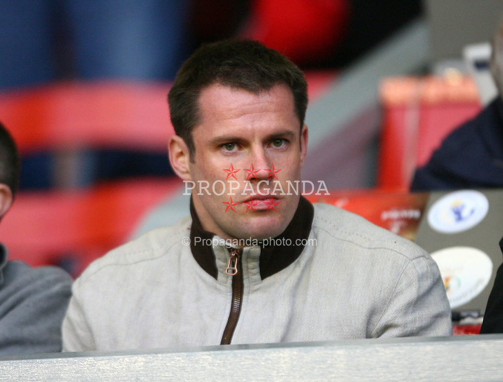 LIVERPOOL, ENGLAND - SUNDAY, APRIL 9th, 2006: Liverpool's Jamie Carragher during the FA Youth Cup Final 1st Leg match at Anfield. (Pic by David Rawcliffe/Propaganda)