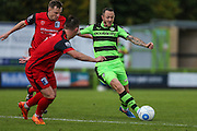 Forest Green Rovers Rhys Murphy(39) on the ball during the Vanarama National League match between Forest Green Rovers and Barrow at the New Lawn, Forest Green, United Kingdom on 1 October 2016. Photo by Shane Healey.