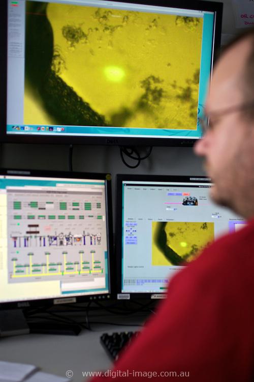 Jason x in the Macromolecular Crystallography Beamline hutch at the Australian Synchrotron