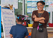Adrienne Glover teaches kindergarten at Anderson Elementary School, May 11, 2016.