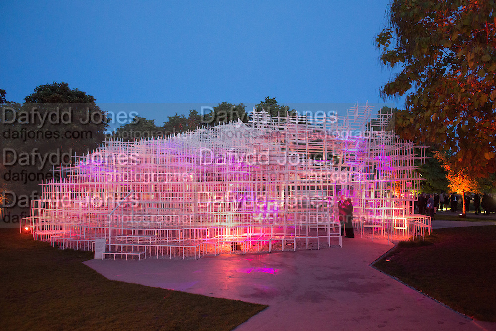 The Serpentine Contempories party. Kensington Gdns. 16 September 2013