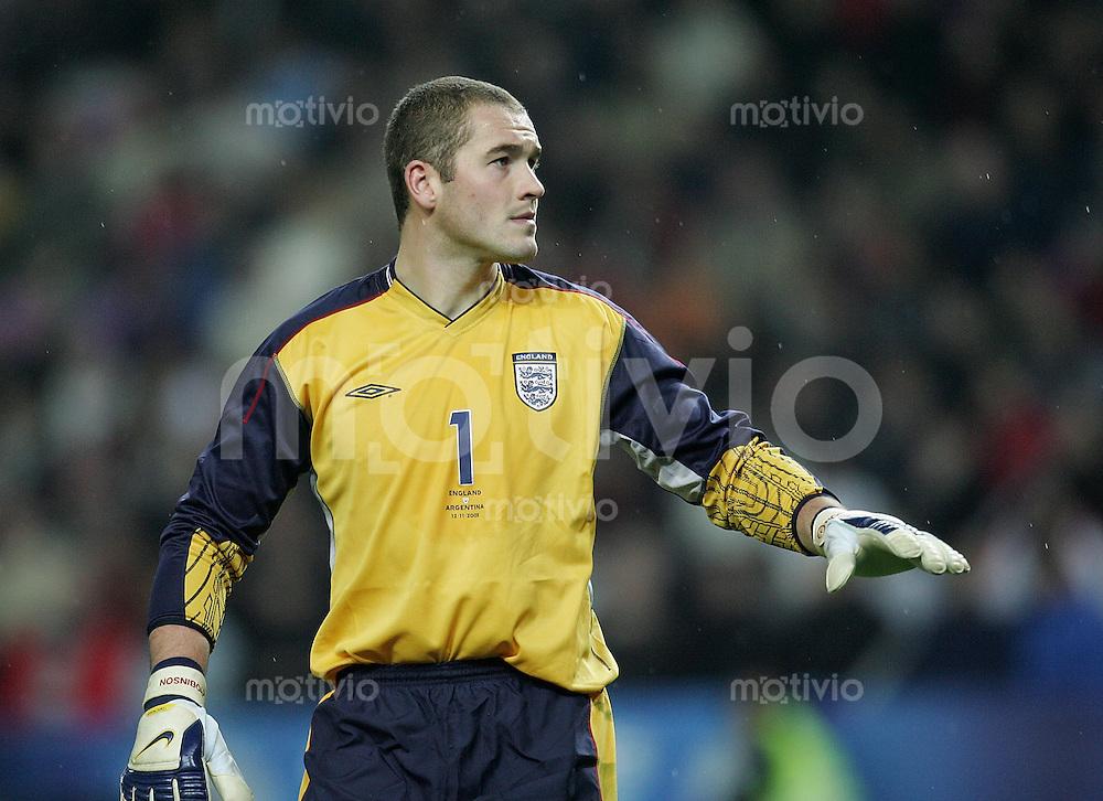 Fussball International Testspiel England 3-2 Argentinien Paul Robinson (ENG)