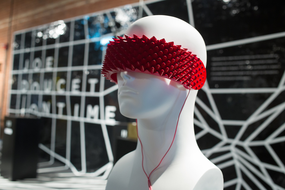One Sense from Joe Doucet Studio, designed to aggressively shield the wearer from outside stimula.