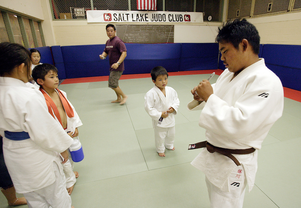 HONOLULU, HAWAII, November 9, 2007: Tadd Fujikawa, a sixteen-year-old professional golfer, is a four time national junior Judo champ and still practices at the Judo club run by his father and grandfather in Honolulu, Hawaii. (Photographs by Todd Bigelow/Aurora)