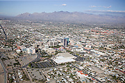 Oversize peak-demand parking lots flank Tuscon's downtown area and convention center.