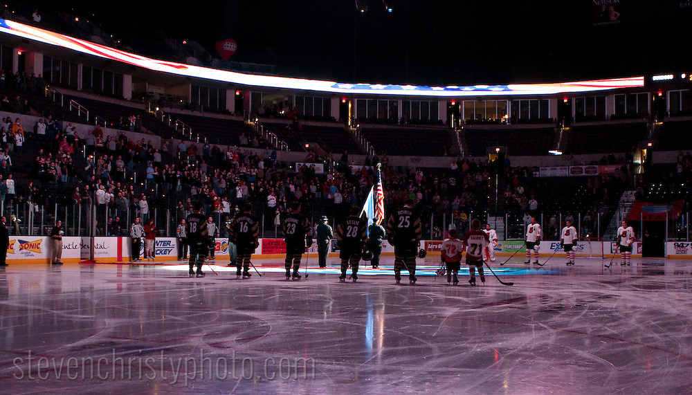 January 4, 2009: The Arizona Sundogs of the CHL play against the Oklahoma City (OKC) Blazers at the Ford Center in Oklahoma City, OK.