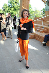 MARIE-CLAIRE BARONESS VON ALVENSLEBEN at a party at the Serpentine Gallery, Kensington Gardens, London to unveil their summer Pavilion designed by Frank Gehry on 20th July 2008.<br /> <br /> NON EXCLUSIVE - WORLD RIGHTS