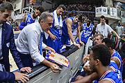 DESCRIZIONE : Beko Legabasket Serie A 2015- 2016 Dinamo Banco di Sardegna Sassari - Enel Brindisi<br /> GIOCATORE : Piero Bucchi<br /> CATEGORIA : Allenatore Coach Time Out<br /> SQUADRA : Enel Brindisi<br /> EVENTO : Beko Legabasket Serie A 2015-2016<br /> GARA : Dinamo Banco di Sardegna Sassari - Enel Brindisi<br /> DATA : 18/10/2015<br /> SPORT : Pallacanestro <br /> AUTORE : Agenzia Ciamillo-Castoria/L.Canu