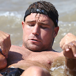 DURBAN, SOUTH AFRICA, December 10. 2015 -Johan Deysel during The Cell C Sharks Pre Season Beach South Beach training for the 2016 Super Rugby Season . (Photo by Steve Haag)<br /> images for social media must have consent from Steve Haag