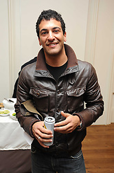 Actor SIMON KASSIANIDES at an exhibition of Tahnee Lonsdale's paintings held at The Commander, 47 Hereford Road, London on 8th October 2008.