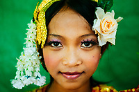 A portrait of a young Khmer girl in Cambodia.