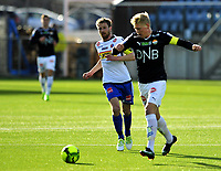 Fotball Tippeligaen 2017  25.03.2017<br /> Gamle Gress Marienlyst stadion Drammen<br /> Treningskamp<br /> <br /> Resultat <br /> <br /> Strømsgodset Jakob Glesnes<br /> <br /> Sandefjo Pau Morer<br /> <br /> <br /> Foto: Robert Christensen Digitalsport