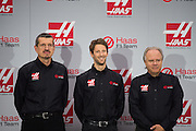 September 29, 2015: Guenther Steiner, Haas F1 Team principle, Romain Grosjean, Gene Haas, Haas Formula 1 team.