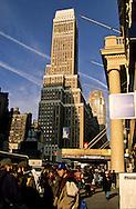 New York. Pensylvania hotel building on eight avenue New york
