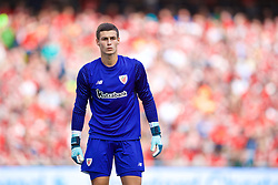DUBLIN, REPUBLIC OF IRELAND - Saturday, August 5, 2017: Athletic Club Bilbao's goalkeeper Kepa Arrizabalaga during a preseason friendly match between Athletic Club Bilbao and Liverpool at the Aviva Stadium. (Pic by David Rawcliffe/Propaganda)