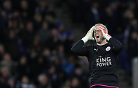 Football - 2016 / 2017 Premier League - Leicester City vs. Liverpool<br /> <br /> Kasper Schmeichel of Leicester City during the match at The King Power Stadium.<br /> <br /> COLORSPORT/LYNNE CAMERON