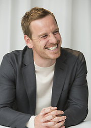 May 4, 2017 - Hollywood, California, U.S. - MICHAEL FASSBENDER promotes 'Alien Covenant' Michael Fassbender (born April 2, 1977) is a German-born Irish actor. His feature film debut was in the fantasy war epic 300 (2007) as a Spartan warrior; his earlier roles included various stage productions, as well as starring roles on television such as in the HBO miniseries Band of Brothers (2001) and the Sky One fantasy drama Hex (2004–05). He first came to prominence for his role in Hunger (2008), for which he won a British Independent Film Award. Subsequent roles include in the independent film Fish Tank (2009), as a Royal Marines lieutenant in Inglourious Basterds (2009), A Dangerous Method (2011), Prometheus (2012), and in the musical comedy-drama Frank (2014), The Snowman (2017), Alien Covenant (2017), Song to Song (2017). (Credit Image: © Armando Gallo via ZUMA Studio)