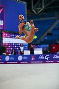 Bogdanova Alida Qualification Palla World Cup Pesaro 2018  Bogdanova Alida is a gymnast of Great Britain born in Rezekne in 2002.