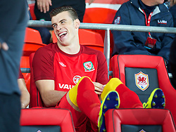 10.09.2013, Stamford Bridge, Cardiff, ENG, FIFA WM Qualifikation, Wales vs Serbien, Rueckspiel, im Bild Wales' Gareth Bale during the FIFA World Cup Qualifier second leg Match between Wales and Serbia at the Stamford Bridge stadium in Cardiff, Great Britain on 2013/09/10. EXPA Pictures © 2013, PhotoCredit: EXPA/ Propagandaphoto/ David Rawcliffe<br /> <br /> ***** ATTENTION - OUT OF ENG, GBR, UK *****