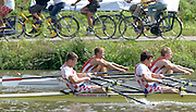 2006, FISA Juniors, Bosbaan, Amsterdam, THE NETHERLANDS, Saturday, [Finals Day].  05.08.2006. DEN JM2X, pull through CRO in the Final of the Jun men's double Sculls.  Peter Spurrier/Intersport Images, email images@intersport-images.com[Mandatory Credit Peter Spurrier/ Intersport Images] Rowing Course: Bosbaan Rowing Course, Amsterdam, NETHERLANDS