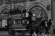 Horse drawn charabank in Pall Mall. London.  . March 23 2017