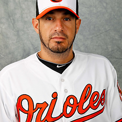 March 1, 2012; Sarasota, FL, USA; Baltimore Orioles relief pitcher Oscar Villarreal (65) poses for a portrait during photo day at the spring training headquarters.  Mandatory Credit: Derick E. Hingle-US PRESSWIRE