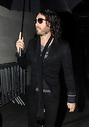 01.FEBRUARY.2013. LONDON<br /> <br /> RUSSELL BRAND ARRIVING AT THE BBC RADIO ONE STUDIO IN LONDON FOR THE NICK GRIMSHAW MORNING SHOW. <br /> <br /> BYLINE: EDBIMAGEARCHIVE.CO.UK<br /> <br /> *THIS IMAGE IS STRICTLY FOR UK NEWSPAPERS AND MAGAZINES ONLY*<br /> *FOR WORLD WIDE SALES AND WEB USE PLEASE CONTACT EDBIMAGEARCHIVE - 0208 954 5968*