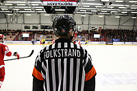 2019-03-05   Ljungby, Sweden: Referee Kristoffer Folkstrand during the game between IF Troja / Ljungby and Vimmerby HC at Ljungby Arena ( Photo by: Fredrik Sten   Swe Press Photo )<br /> <br /> Keywords: Icehockey, Ljungby, HockeyEttan, Ljungby Arena, IF Troja / Ljungby, Vimmerby HC, Playoff
