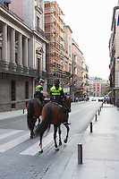 police horses in madrid spain