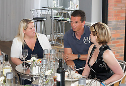MANCHESTER, ENGLAND - Friday, June 25, 2010: Richard Krajicek chats with Corporate Hospitality guests on day three of the Manchester Masters 2010 at the Northern Lawn Tennis Club. (Pic by David Tickle/Propaganda)