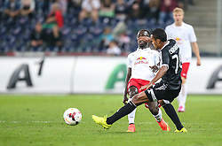 06.08.2014, Red Bull Arena, Salzburg, AUT, UEFA CL Qualifikation, FC Red Bull Salzburg vs Qarabag FK, dritte Runde, Rueckspiel, im Bild Naby Keita, (FC Red Bull Salzburg, #8) und Chumbinho, (Qarabag FK, #70) //during UEFA Champions League Qualifier second leg 3rd round match between FC Red Bull Salzburg vs Qarabag FK at the Red Bull Arena in Salzburg, Austria on 2014/08/06. EXPA Pictures © 2014, PhotoCredit: EXPA/ Roland Hackl