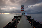Lighthouse at Garður in south-west Iceland
