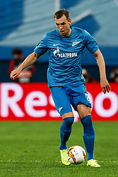 February 21, 2019 - Saint Petersburg, Russia - Artem Dzyuba of FC Zenit Saint Petersburg in action during the UEFA Europa League Round of 32 second leg match between FC Zenit Saint Petersburg and Fenerbahce SK on February 21, 2019 at Saint Petersburg Stadium in Saint Petersburg, Russia. (Credit Image: © Mike Kireev/NurPhoto via ZUMA Press)