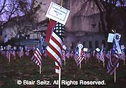 flag soldiers death markers, Iraq war