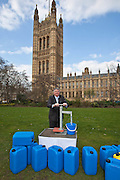Roger Williams MP. Marking World Water Day, over 40 MP's walked for water at Westminster, London at an event organised by WaterAid and Tearfund. Globally hundreds of thousands of people took part in the campaign to raise awareness of the world water crisis.