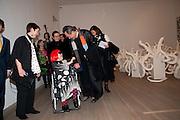 FRANCES MORRIS; YAHOI KUSAMA;  TOSHIO HARA , Yayoi Kusama opening. Tate Modern. London. 7 February 2012
