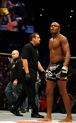 October 20, 2007; CIncinnati, OH, USA;  UFC middleweight champion Anderson Silva before his rematch against Rich Franklin at the US Bank Arena in Cincinnati, OH.