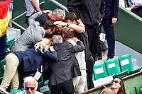 Joie Bastian SCHWEINSTEIGER  - 02.06.2015 - Jour 10 - Roland Garros 2015<br />Photo : David Winter / Icon Sport