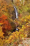 Waterfalls at autumn