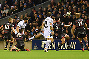 Loose ball was the story of the day in the Guinness Pro 14 2017_18 match between Edinburgh Rugby and Glasgow Warriors at Murrayfield, Edinburgh, Scotland on 23 December 2017. Photo by Kevin Murray.