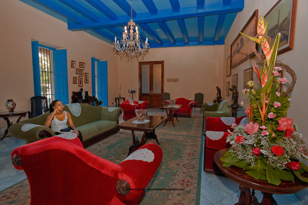 Hotel Isabel is typical of the many restored, high-end hotels in Cuba.
